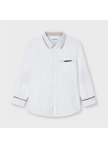 Mayoral Mayoral Erkek Çocuk Uzun Kol Gömlek Beyaz 20304 Beyaz